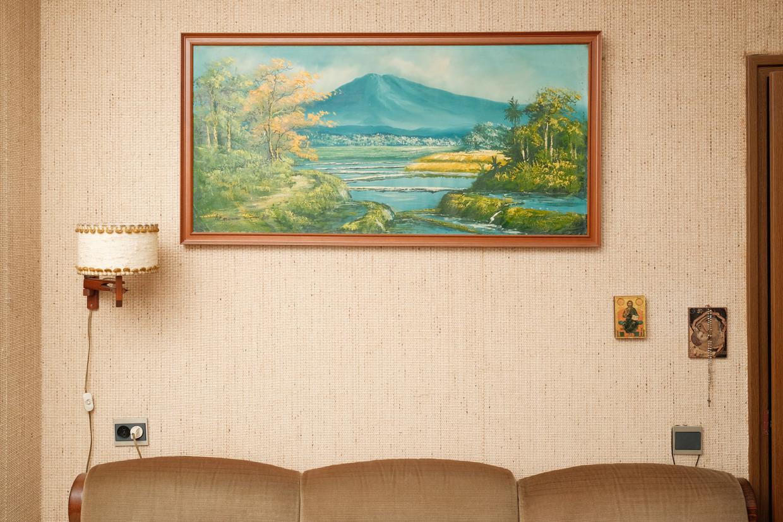 Maria Mulders-Van Kessel uit Gemert kreeg dit schilderij van een Molukse vriend.