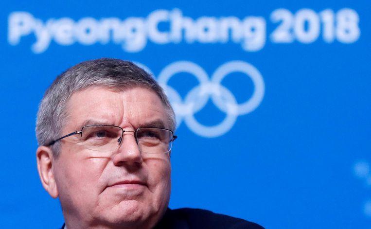 Thomas Bach, voorzitter van het IOC. Beeld anp