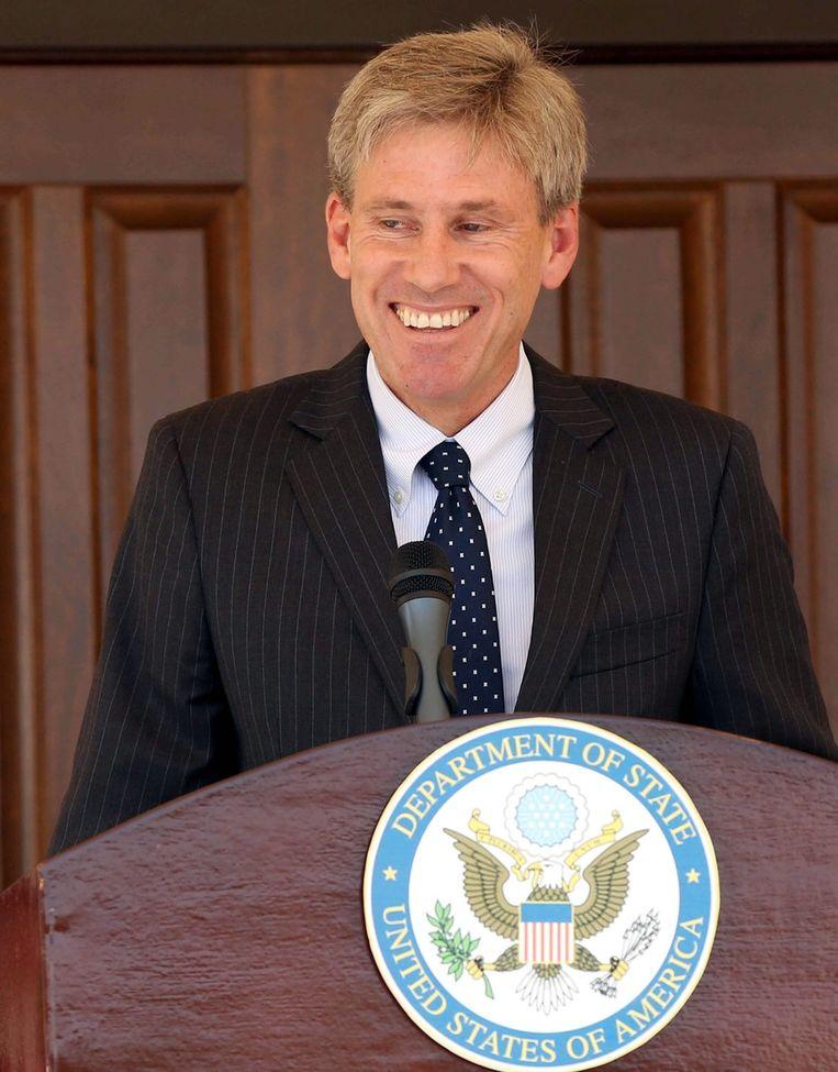 Ambassadeur Christopher Stevens kwam gisteren om het leven tijdens een aanval in de Libische hoofdstad Benghazi. Beeld EPA