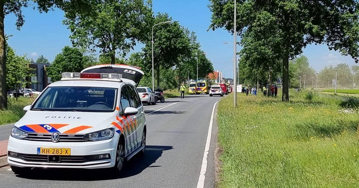 Motorrijder verongelukt bij eenzijdig ongeval in Hengelo.