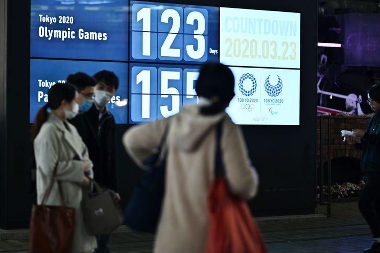Countdown naar de Spelen van Tokio. Beeld AFP