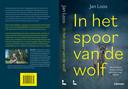 Cover en achterflap van boek over wolven van Jan Loos, of de cover wolf Billy.