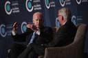 Ivo Daalder in gesprek met toenmalig vicepresident Joe Biden in 2017.