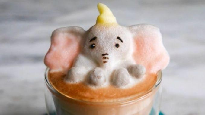 3D-kunst in een kopje koffie bijna te mooi om op te drinken