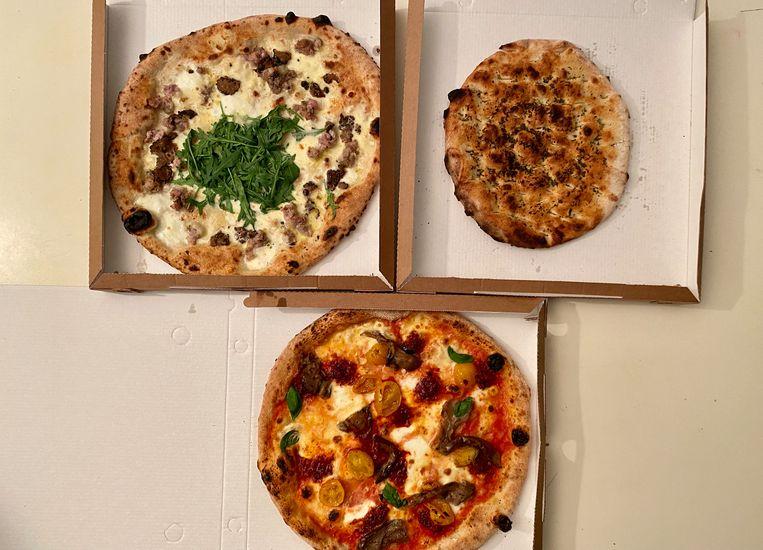 Kruidig, romig en kazig: toppizza's. Beeld Monique van Loon
