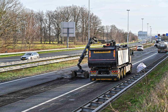 De A58 wordt zondag gerepareerd.