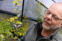 Guus Smid in zijn vlinderkas.