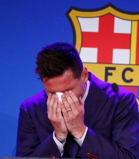 Lionel Messi barst in tranen uit tijdens persconferentie: 'Dit doet zoveel pijn'