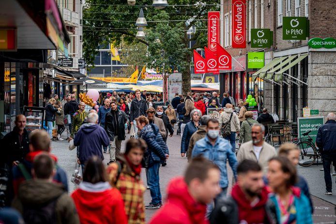 Enschede als winkelstad zou zwaar zijn getroffen door corona.