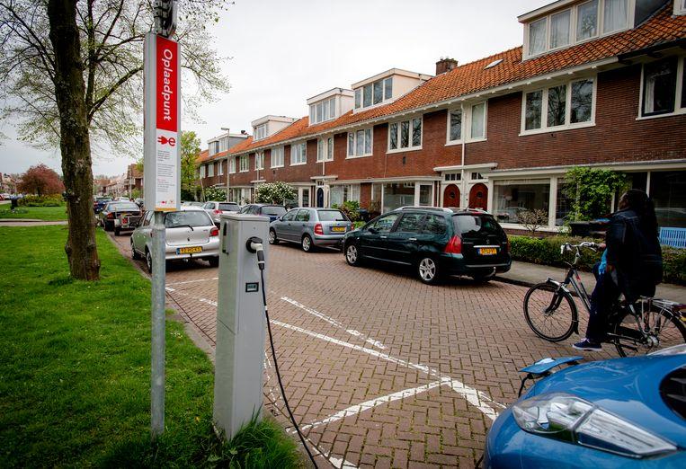 Een oplaadpunt voor elektrische auto's.  Beeld ANP