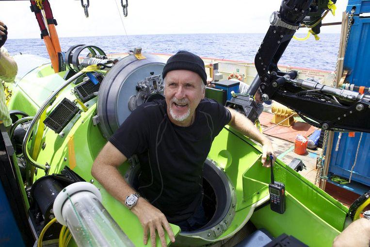 James Cameron voorafgaand aan de afdaling. Beeld anp