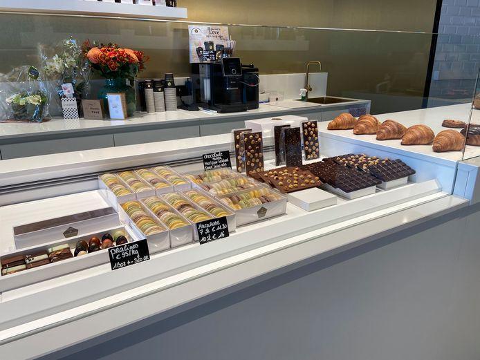 Ambachtelijke chocolade, praliné en macarons