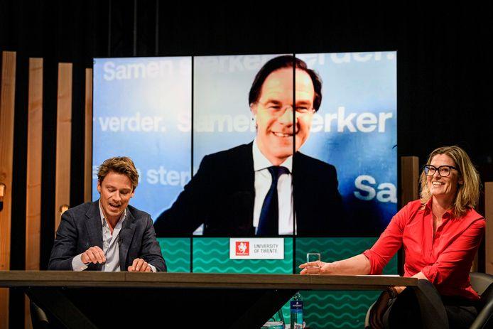 Mark Rutte 'op bezoek' via Zoom in Van Torentje naar Torentje.