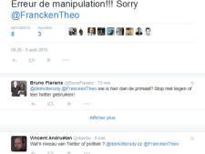 Theo Francken énervé par une bourde de Rudy Demotte sur Twitter