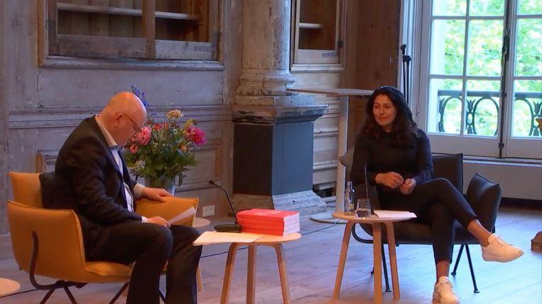 Felix Rottenberg tijdens de presentatie van het Kunstenplan. Beeld Kunstraad