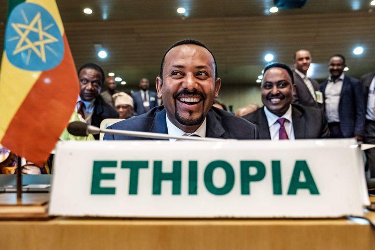 Abiy Ahmed, premier van Ethiopië. Beeld EDUARDO SOTERAS / AFP