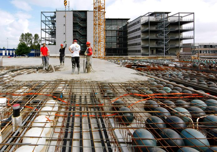 Deze foto is gemaakt tijdens het bouwen van Gebouw X van Windesheim.