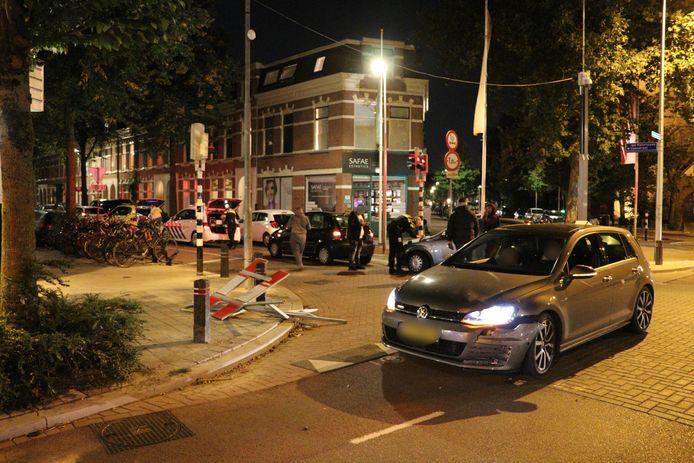 Botsing op de Kanaalstraat in Utrechtse wijk Lombok.