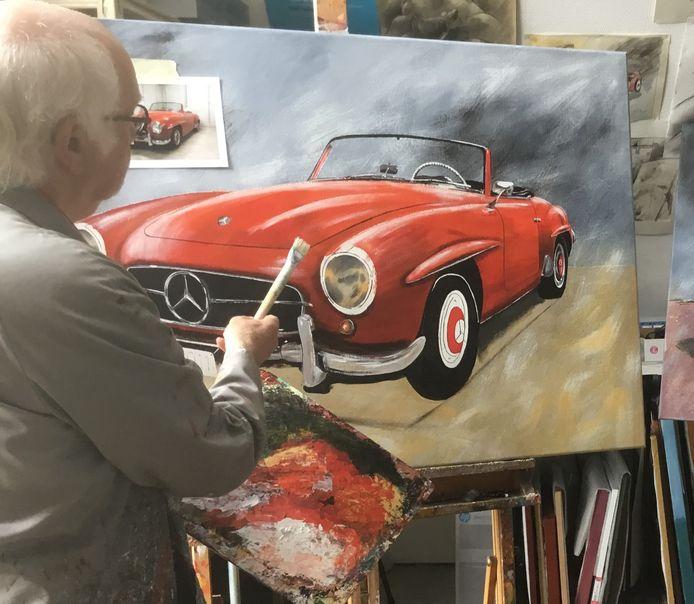 Marc Santens schildert onder andere oldtimers en classic cars.