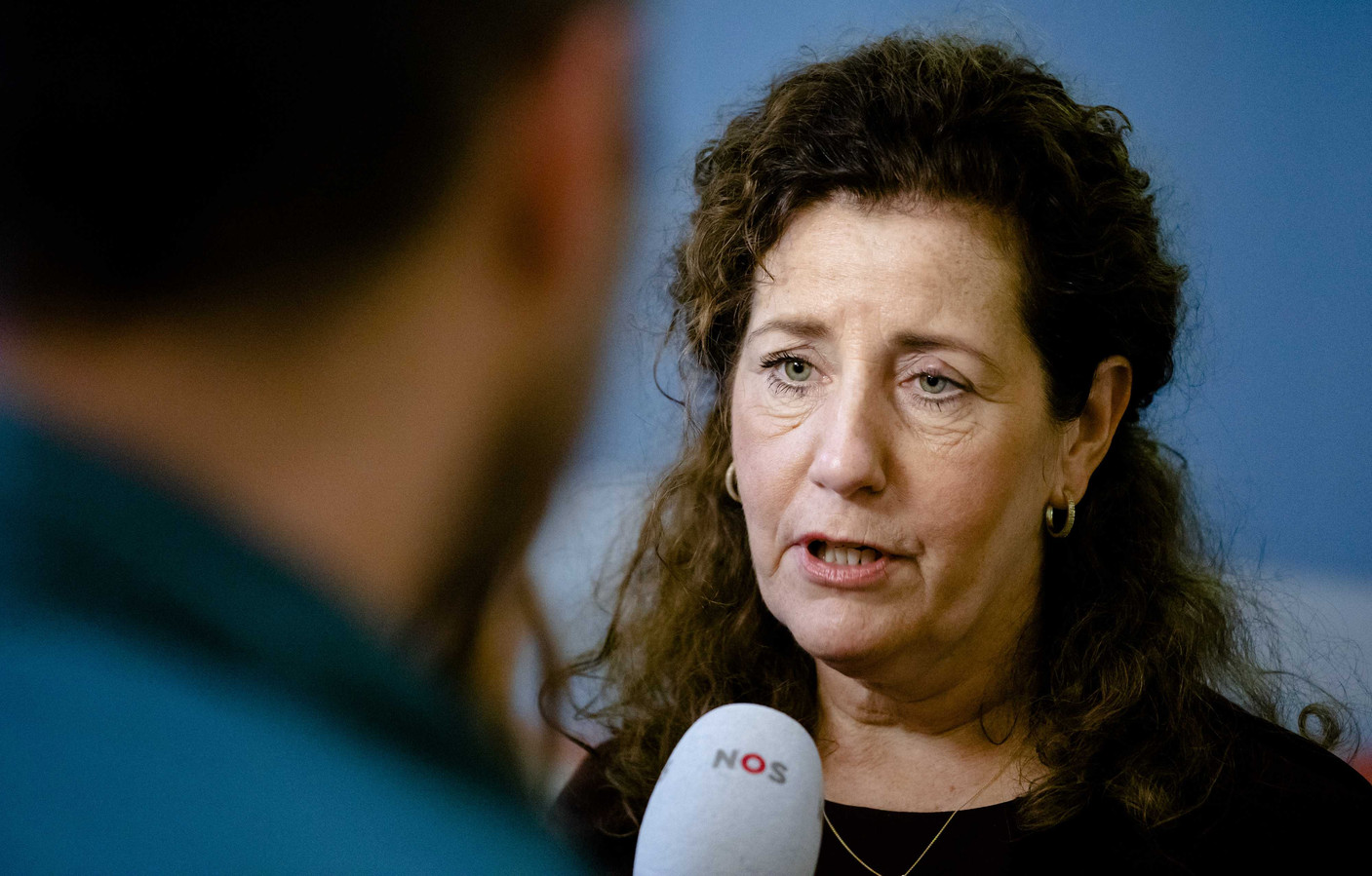 Minister Ingrid van Engelshoven van Onderwijs, Cultuur en Wetenschappen (D66) na afloop van  de ministerraad.