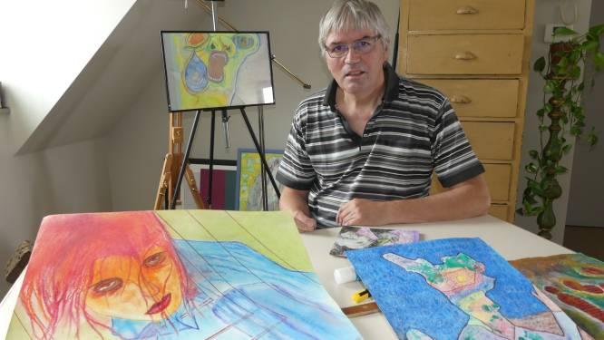 """Johan (67) start met tekenen na diagnose Parkinson: """"Mijn handen trillen, maar eens ik bezig ben, gaat het beter"""""""