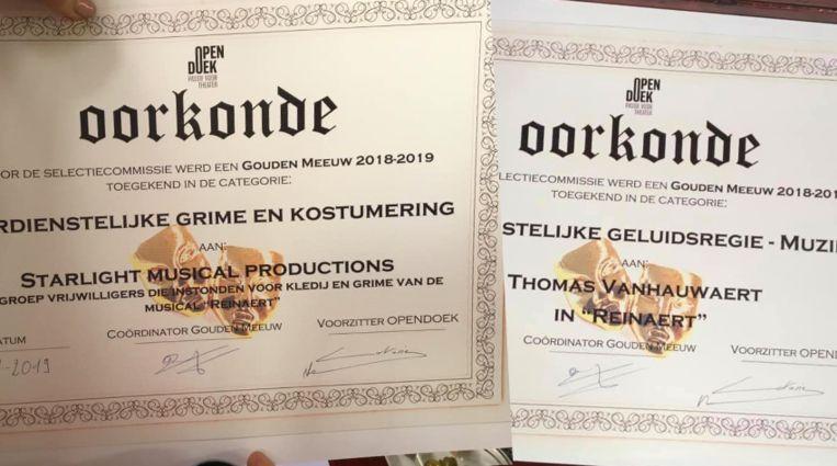 Starlight Musical Productions won twee Gouden Meeuwen