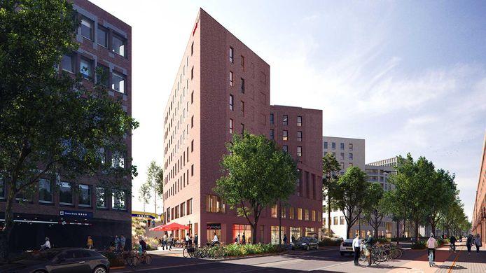 Het gebouw 'Platform A' waarin de Bredase vestiging van IntercityHotels wordt gevestigd.