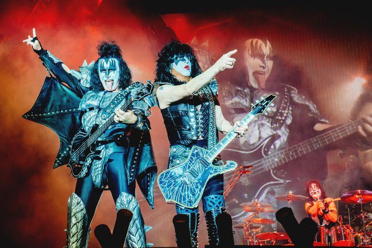 Kiss speelt op Graspop. Beeld Stefaan Temmerman