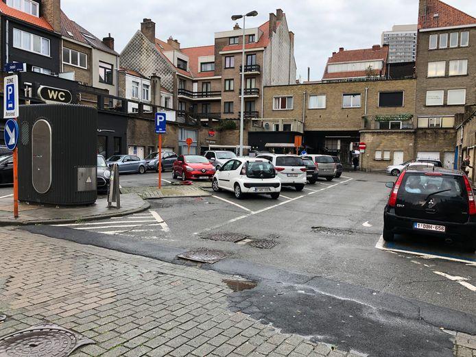 De Lijnbaanstraat in Oostende geeft nu een mistroostige indruk.