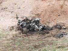 Scooter in Holten volledig verwoest door brand