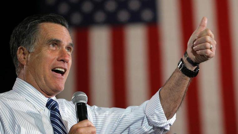 Mitt Romney: rijk, succesvol, maar ideologisch niet altijd even standvastig. Beeld Reuters