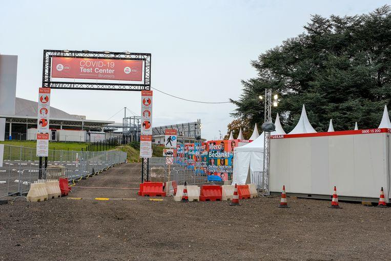 Het nieuwe testdorp Noord bevindt zich op de parking van Paleis 12.  Beeld Marc Baert
