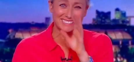 Anne-Sophie Lapix prise d'un énorme fou rire en plein JT