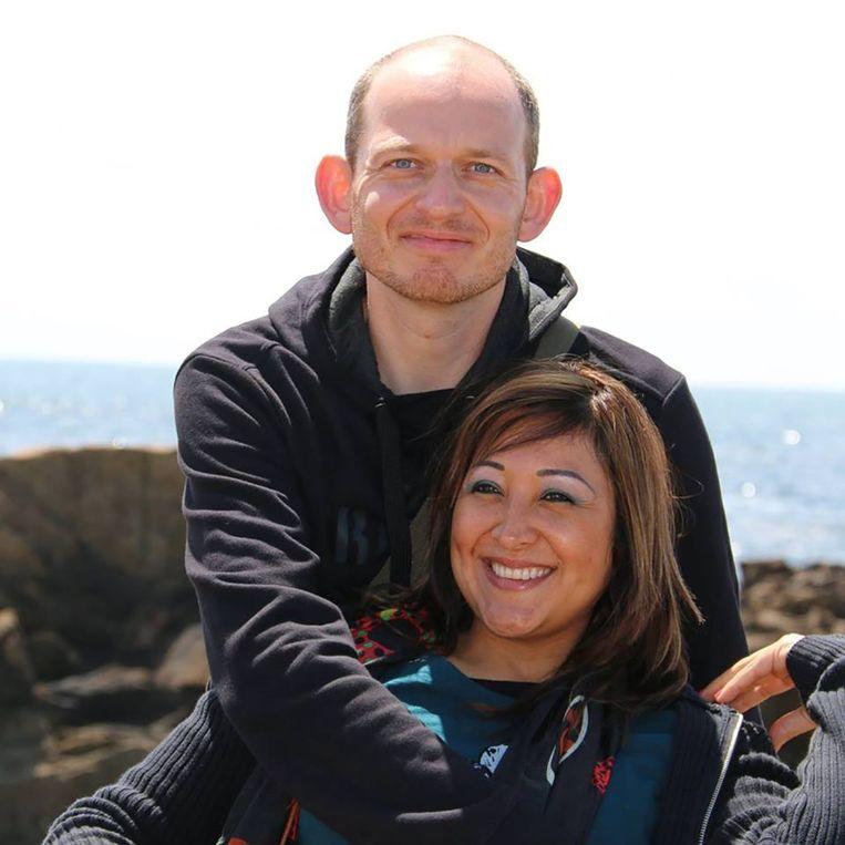 Adelma Tapia Ruiz en haar man Christophe Delcambe. Beeld Facebook