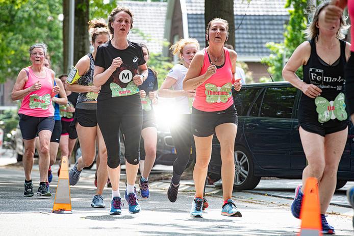 De deelnemers aan de 7,5 kilometer.
