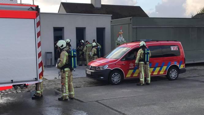 Droogkast vliegt in brand in garage
