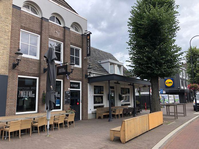 Restaurant Zinderend in Uden met daarnaast café Zinderend Bottles & Bites, voorheen Meneer Prinssen.