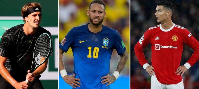 Zverev, Neymar en Ronaldo.
