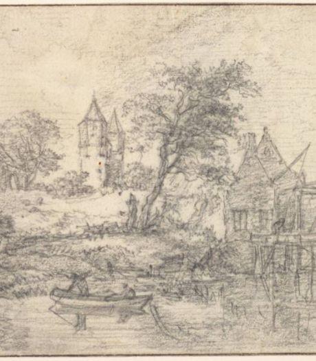 Ontdekking: landschapsschilder Jacob van Ruisdael tekende in 1650 de Amersfoortse Kamperbuitenpoort
