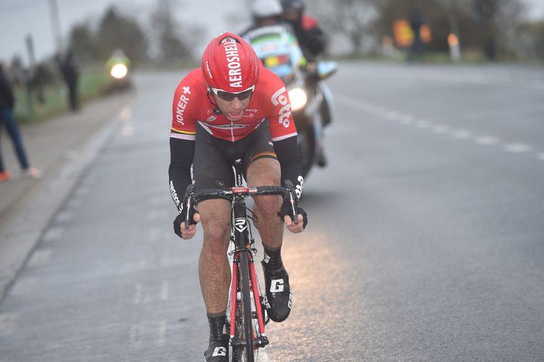 Roelandts begon aan een solo van 80 km, maar sneuvelde aan het front Beeld Tim De Waele