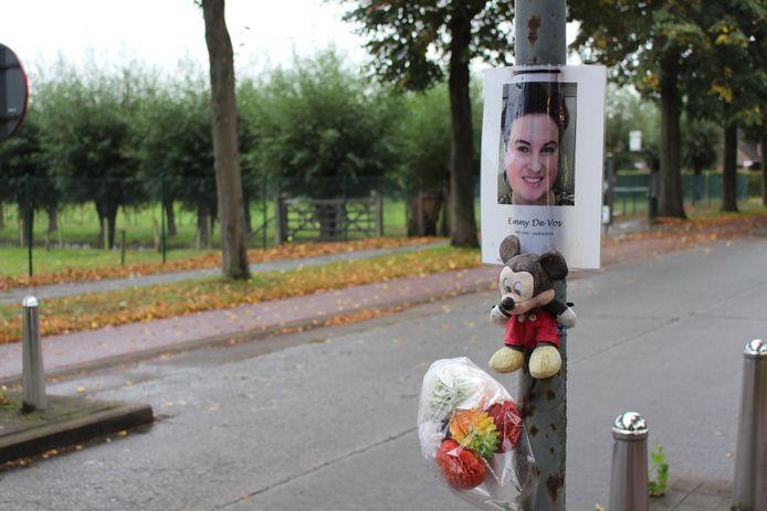 Op de plaats waar Emmy De Vos stierf, hangen nog steeds herinneringen
