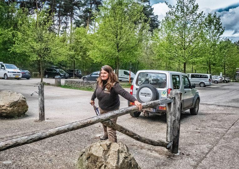 Het nationaal park Hoge Kempen in Dilsen-Stokkem wordt afgesloten. Beeld Tim Dirven