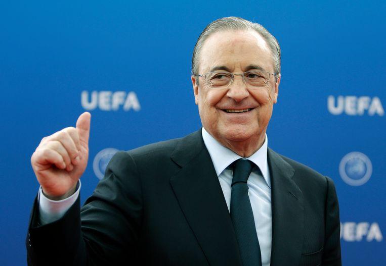 Real Madrid-voorzitter Florentino Pérez. Beeld AP