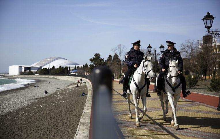 Russische politie te paard. Beeld AP