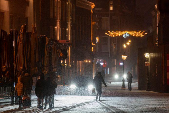 Sneeuwval bij de Parade in Den Bosch.