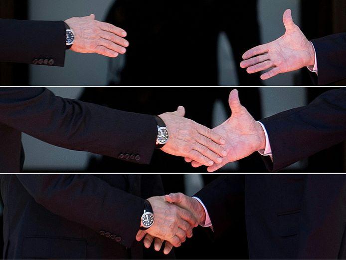 La poignée de mains entre Vladimir Poutine et Joe Biden mercredi à Genève.