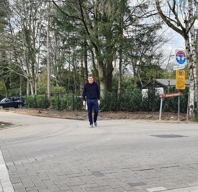Schepen Daan De Veuster in Rommersheide.