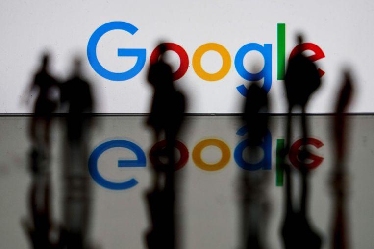 Het logo van Google in Brussel. Beeld AFP
