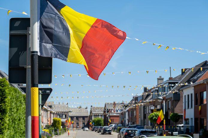 De mensen uit de Sint-Bernardusstraat haalden Belgische vlaggen boven om de EK-sfeer aan te wakkeren.