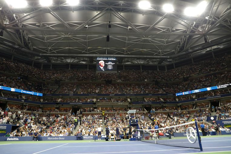Het Arthur Ashe Stadium op het USTA Billie Jean King National Tennis Center in New York. Beeld EPA